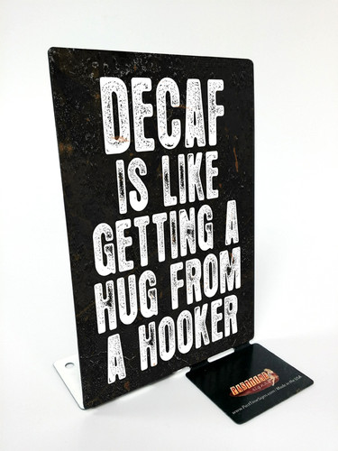 Decaf  Table Topper 4 x 6 Inches