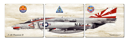 F-4b Phantom Ii Metal Sign 48 x 14 Inches