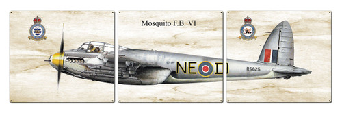 Mosquito Fb Metal Sign 48 x 14 Inches