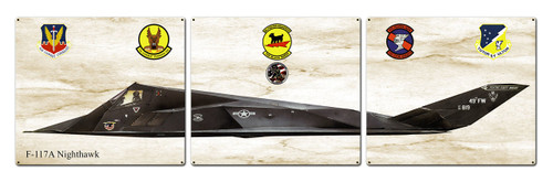 F-117a Nighthawk Metal Sign 48 x 14 Inches
