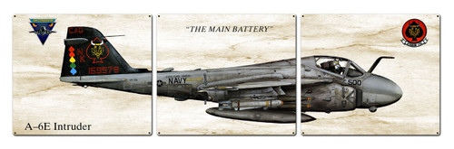 A-6e Intruder Metal Sign 48 x 14 Inches
