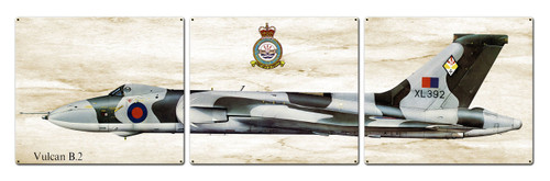 Vulcan B2 Metal Sign 48 x 14 Inches