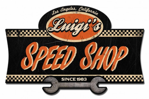 Speed Shop Metal Sign - Personalized 23 x 15 Inches