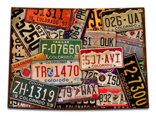 Colorado License Plates Metal Sign 15 x 11 Inches
