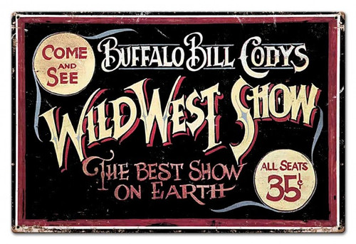 Wild Bill Metal Sign 30 x 20 Inches