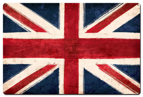 United Kingdom Union Jack Flag Metal Sign 36 x 24 Inches