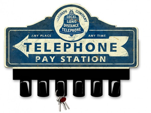 Telegraph Company Metal Key Hanger 14 x 10 Inches