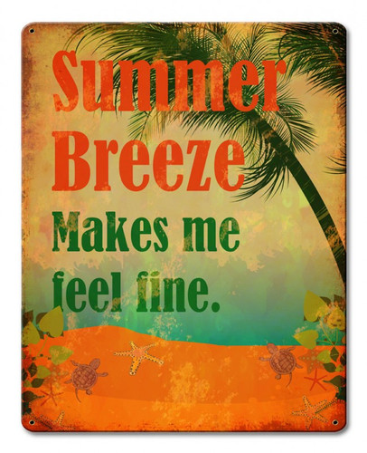 Summer Breeze Metal Sign 12 x 15 Inches