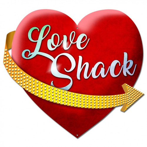 Love Shack Metal Sign 20 x 19 Inches