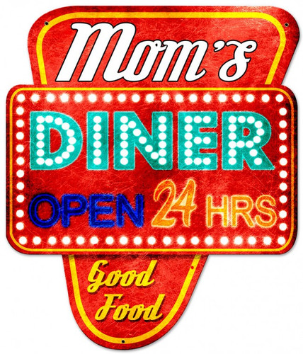 Mom's Diner Metal Sign 20 x 24 Inches