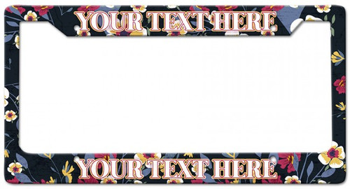Flowers Personalized License Frame 12 x 6 Inches
