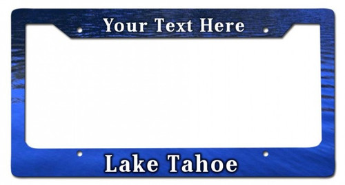 Lake Tahoe Personalized License Frame 12 x 6 Inches
