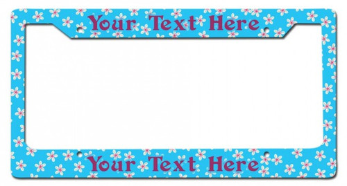 Tropical Flowers Personalized License Frame 12 x 6 Inches