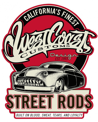 West Coast Street Rods Shield Metal Sign 20 x 16 Inches