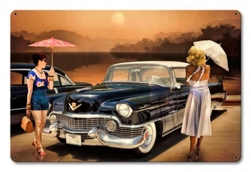 Women Love The Cadillac Philosophy Metal Sign 18 x 12 Inches