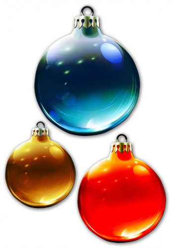Christmas Ornaments 3PCS Metal Sign 14 x 16 Inches