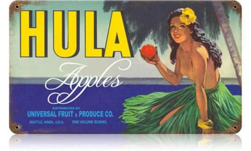 Vintage-Retro Hula Apples Metal-Tin Sign