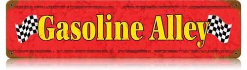 Retro Gasoline Alley Metal Sign 20 x 5 Inches