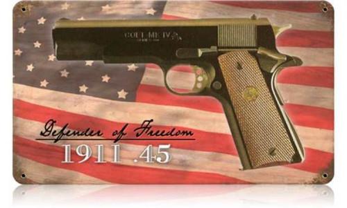 Vintage-Retro Colt .45 Metal-Tin Sign