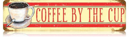 Retro Coffee Metal Sign 20 x 5 Inches