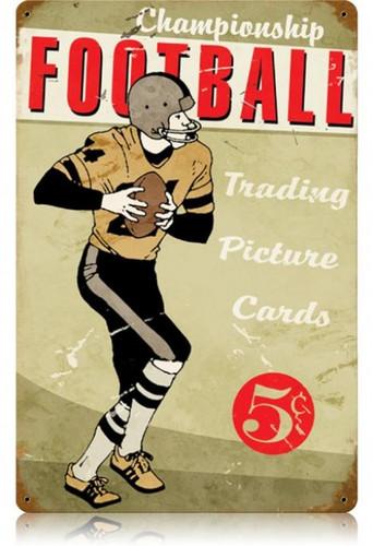 Vintage-Retro Football Metal-Tin Sign