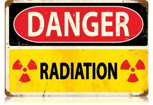 Vintage-Retro Danger Radiation Metal-Tin Sign