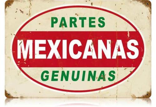 Vintage-Retro Mexicanas Partes Metal-Tin Sign