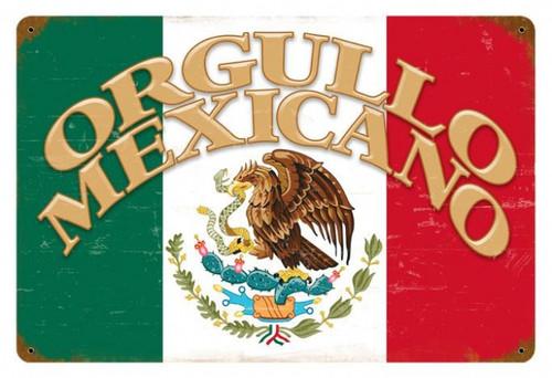 Vintage-Retro Orgullo Mexicano Metal-Tin Sign