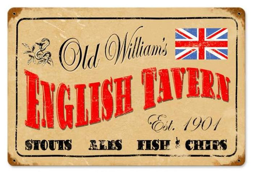 Vintage-Retro English Tavern Metal-Tin Sign
