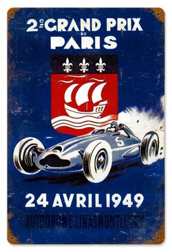 Vintage-Retro Grand Prix Paris Metal-Tin Sign
