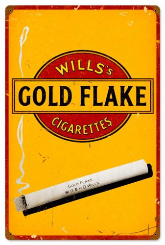 Vintage-Retro Gold Flake Cigarettes Metal-Tin Sign