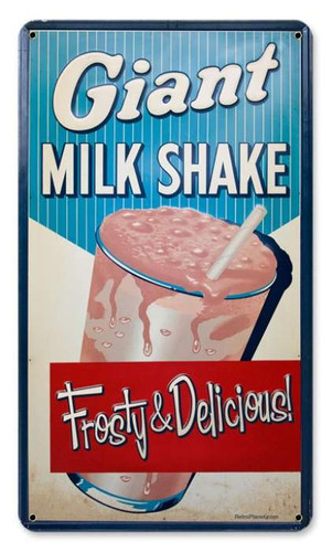 Vintage-Retro Milk Shake Metal-Tin Sign