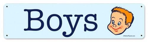 Retro Boys Metal Sign  20 x 5 inches