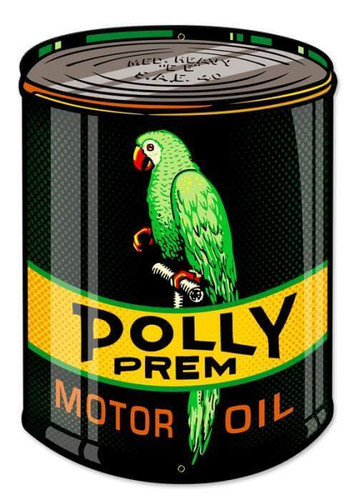 Retro Polly Oil Can Metal Sign 14 x 20 Inches
