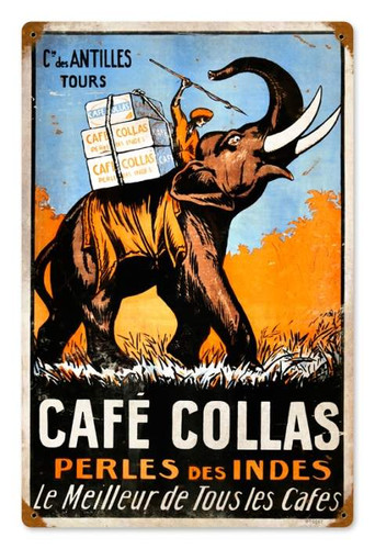 Vintage-Retro Cafe Collas Metal-Tin Sign