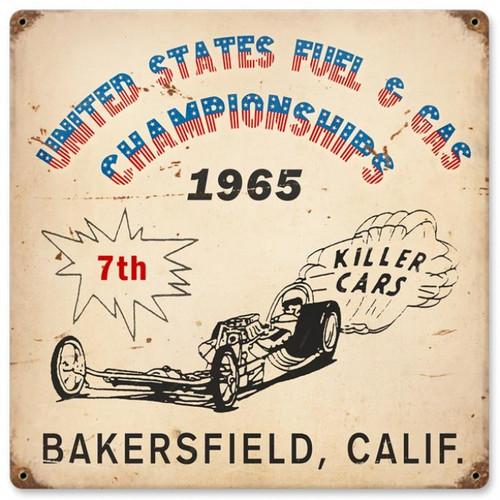 Vintage-Retro Bakersfield Killer Cars Metal-Tin Sign