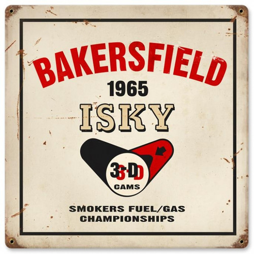 Vintage-Retro Bakersfield isky Metal-Tin Sign