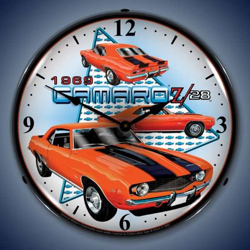 Vintage-Retro  1969 Camaro Z28 Lighted Wall Clock