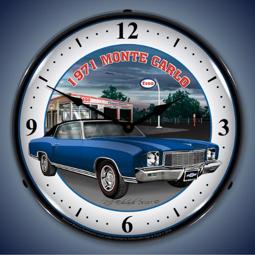 Vintage-Retro  1971 Monte Carlo Lighted Wall Clock