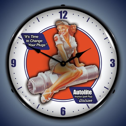 Vintage-Retro  Autolite Avaition Lighted Wall Clock