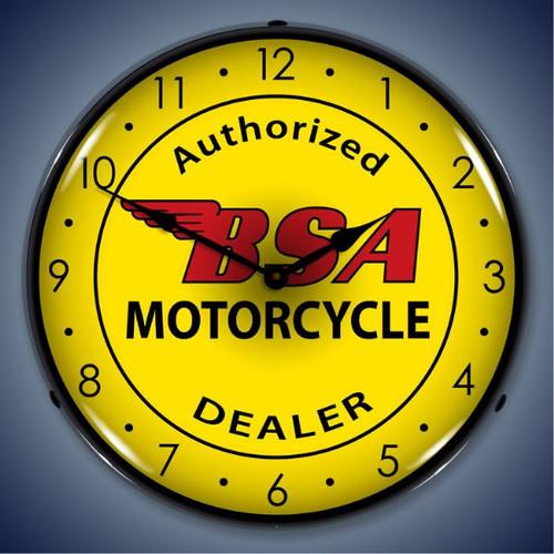 Vintage-Retro  BSA Motorcycle Lighted Wall Clock