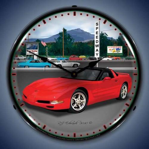 Vintage-Retro  C5   Raceway Lighted Wall Clock