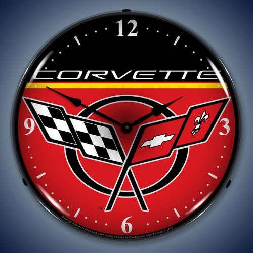 Vintage-Retro  C5 Corvette Lighted Wall Clock