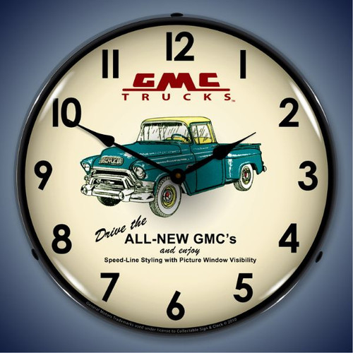 Vintage-Retro  GMC Trucks 1956 Lighted Wall Clock