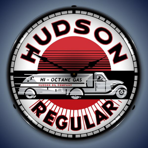 Vintage-Retro  Hudson Gas Lighted Wall Clock