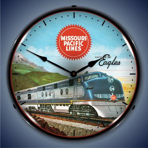 Vintage-Retro  Missouri Pacific Sales Lighted Wall Clock