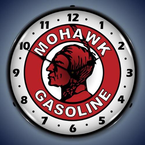 Vintage-Retro  Mohawk Gasoline Lighted Wall Clock