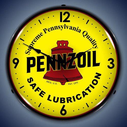 Vintage-Retro  Pennzoil Lighted Wall Clock