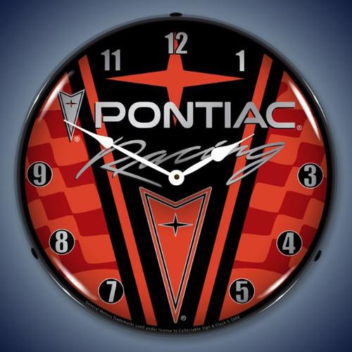 Vintage-Retro  Pontiac Racing Lighted Wall Clock