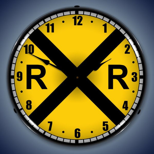 Vintage-Retro  Railroad Crossing Lighted Wall Clock